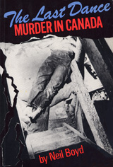 cover, Last Dance: black and white image of a murdered man lying at the bottom of a staircase